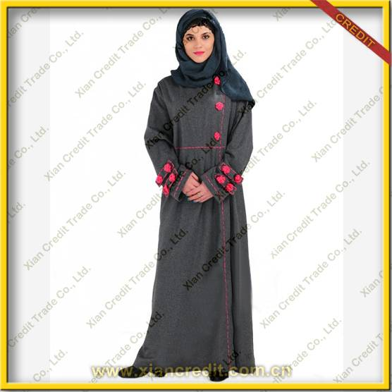 2014 Newest muslim women abaya  made offlannel KDT - 1005