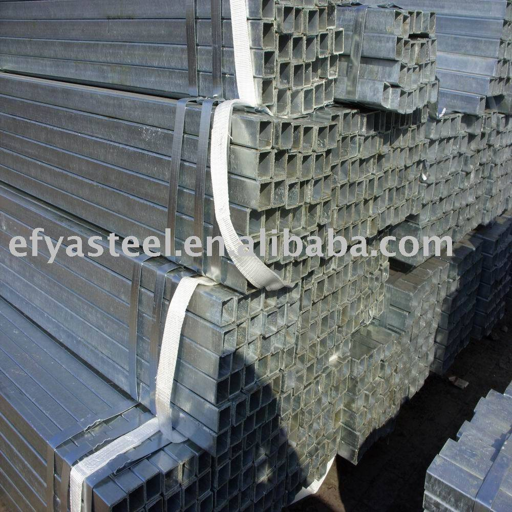 galvanized square pipe