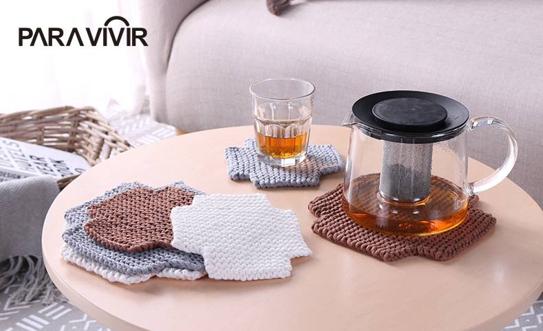 Modern Placemats Blended Cotton Dining Table Mat Heat Insulation Coffee Cup Pad Tableware Coaster