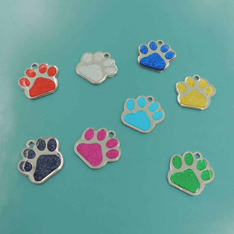 Stainless steel colorful enamel pet tag