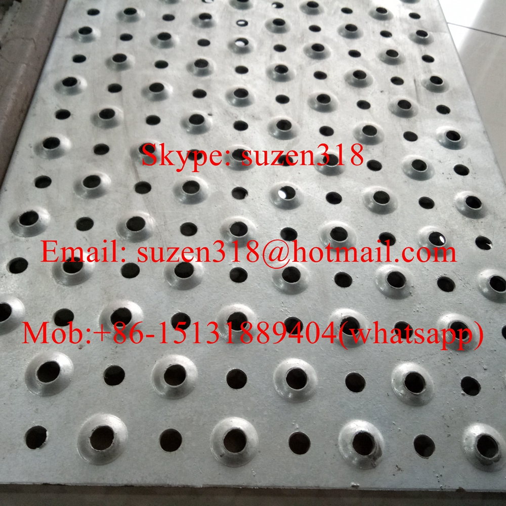 aluminum dimple hole perforated plank grating