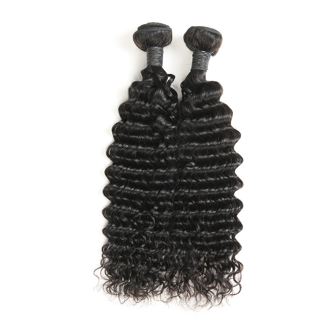 9A Malaysian Deep Wave Human Virgin Hair Weave 4 Bundles With Lace Closure