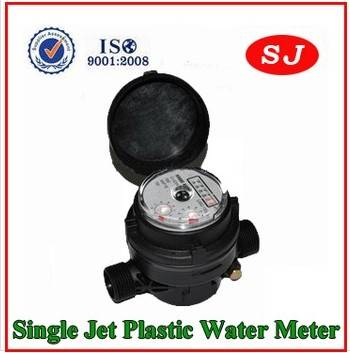 Single Jet Plastic Water Meter LXSC-13D8s