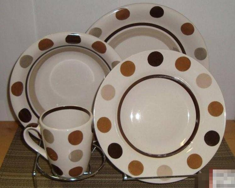 Hand painted stoneware 16pcs dinnerware sets