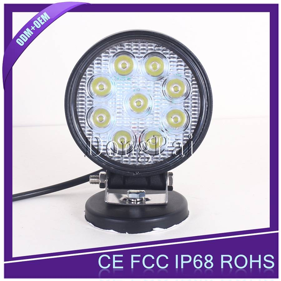 "Round 4"" 27w led work light"