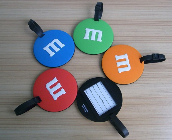 round shape colorful plastic luggage tag