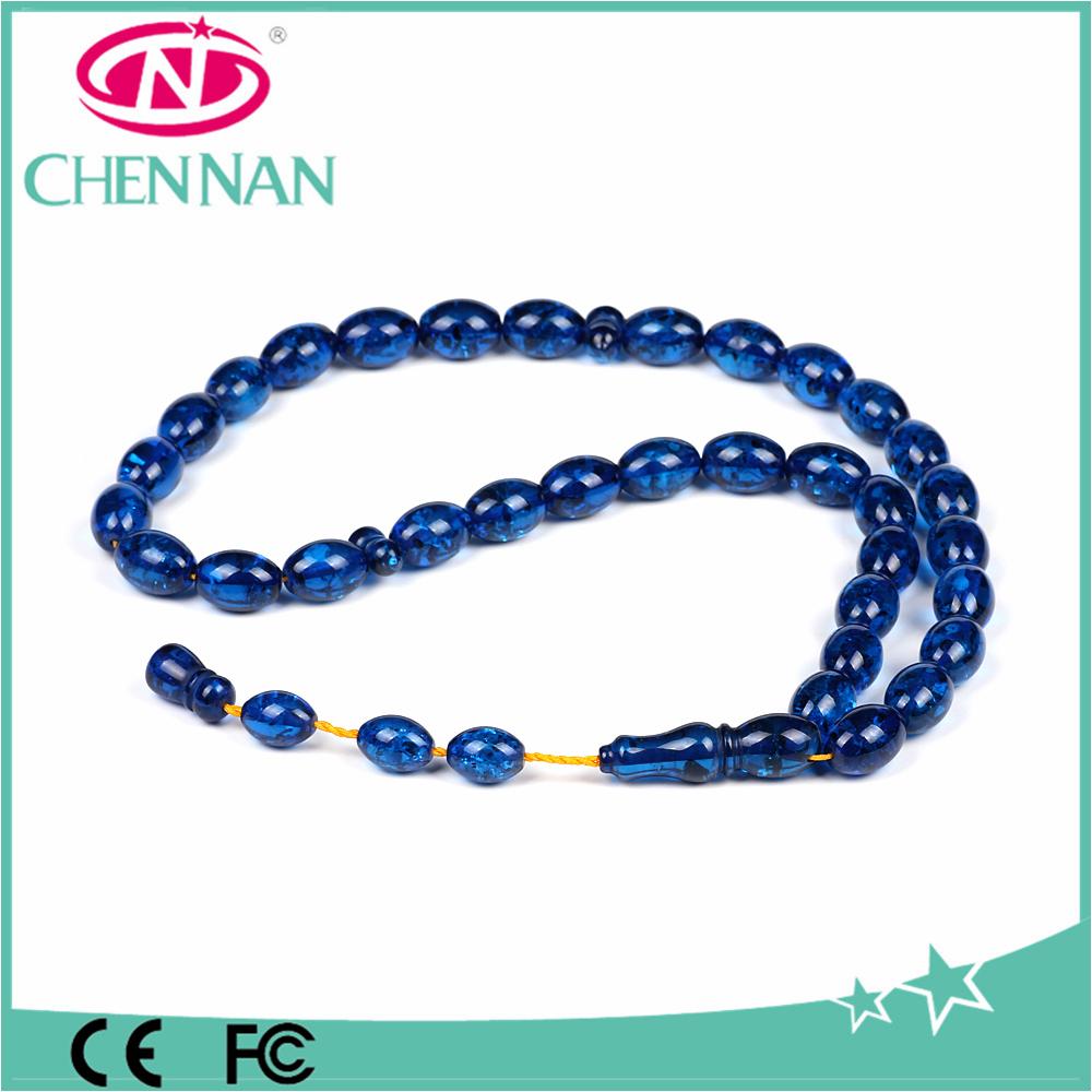 blue catholic amber tesbih prayer beads wholesale rosaries