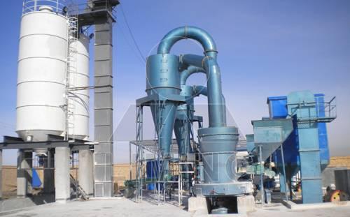 High pressure suspension grinder mill