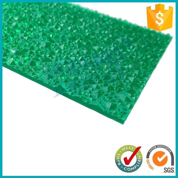 100% virgin lexan 3mm Crystal pc diamond embossed polycarbonate sheet manufacturer