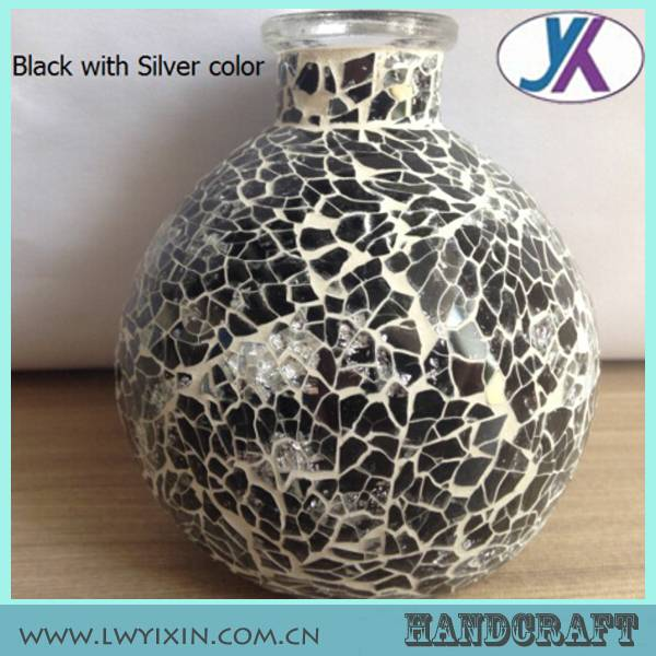 Stained mosaic 300ml glass oil lamp