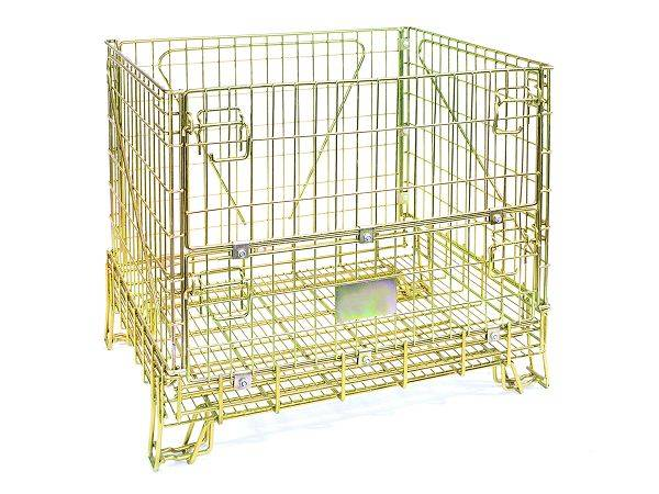 heavy duty industrial stackable storage wire mesh container