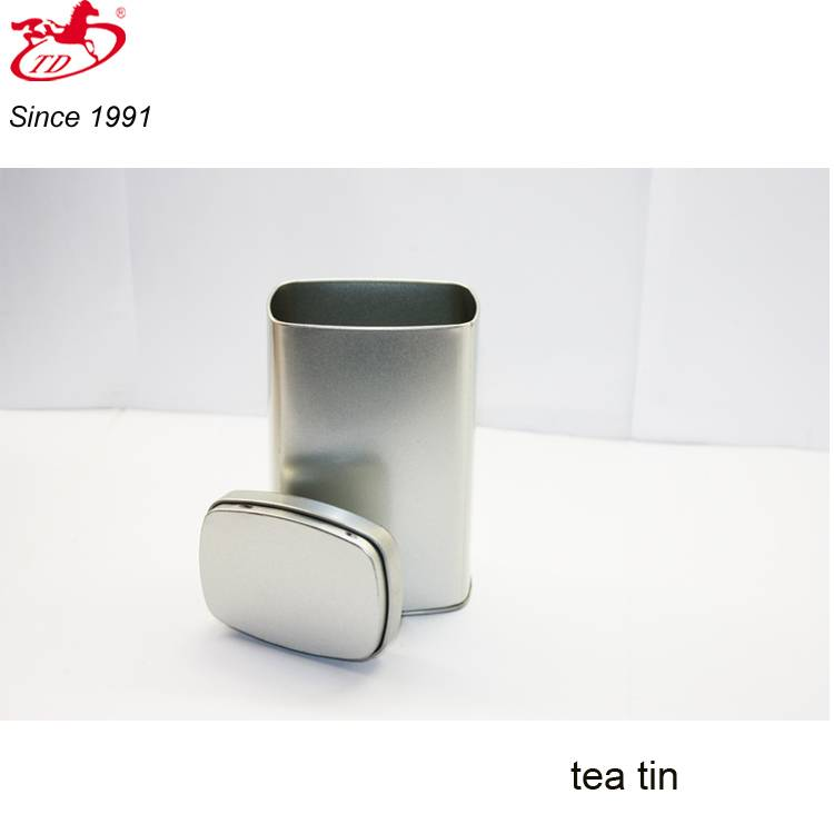 Wholesale blank rectangular tea/foods tin box, safe tin can
