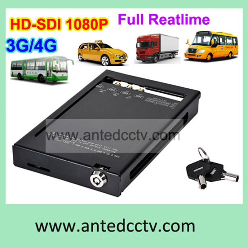 1080P 2ch 4ch Car DVR with SD card slot and GPS tracking for mobile CCTV system