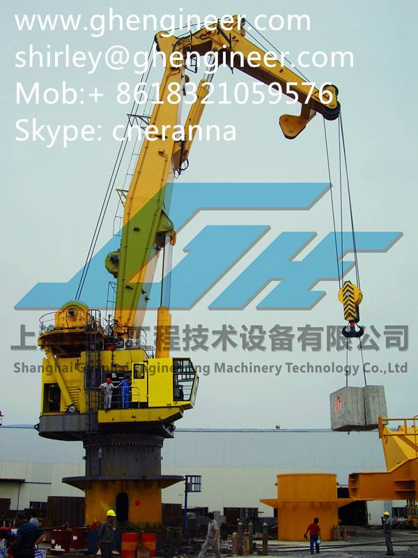 3.2T/9M Hydraulic Stiff Boom Marine Crane