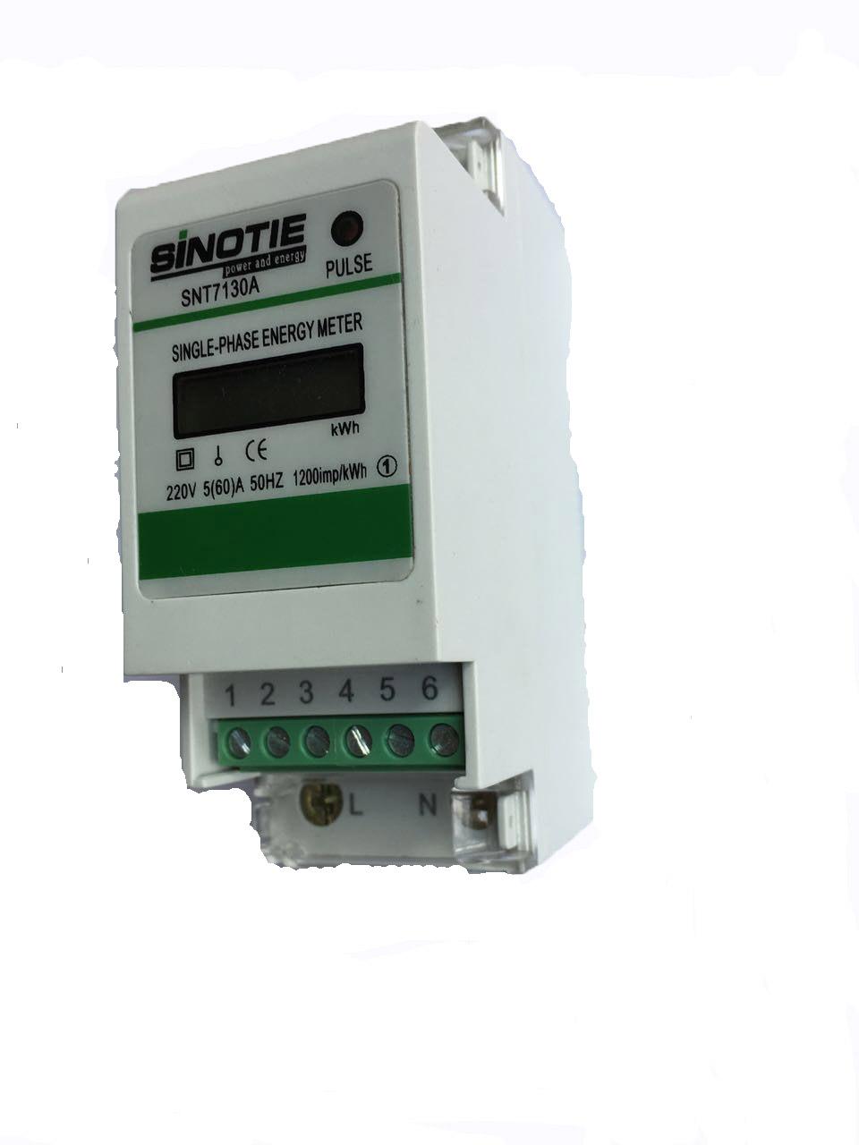 single phase din rail energy meter