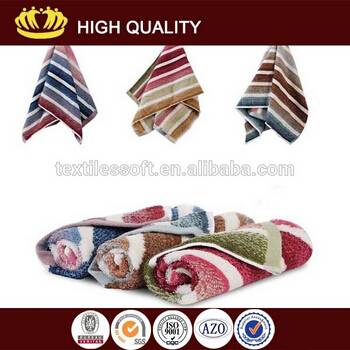 wholesale 100% cotton yarn dyed color striped cheap bath towel