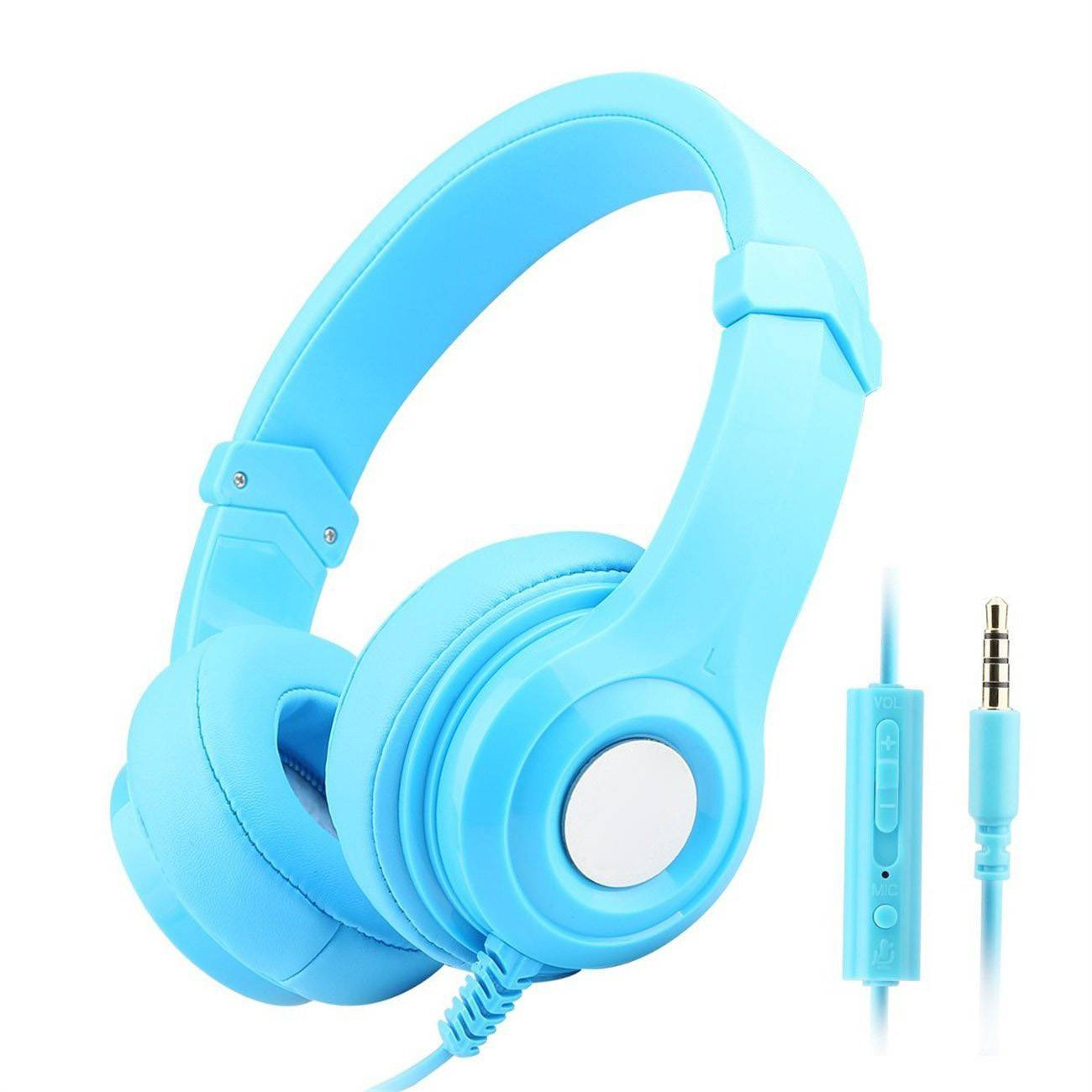 Special big ear-cushion headphone for mobile with microphone on cable LS-A6