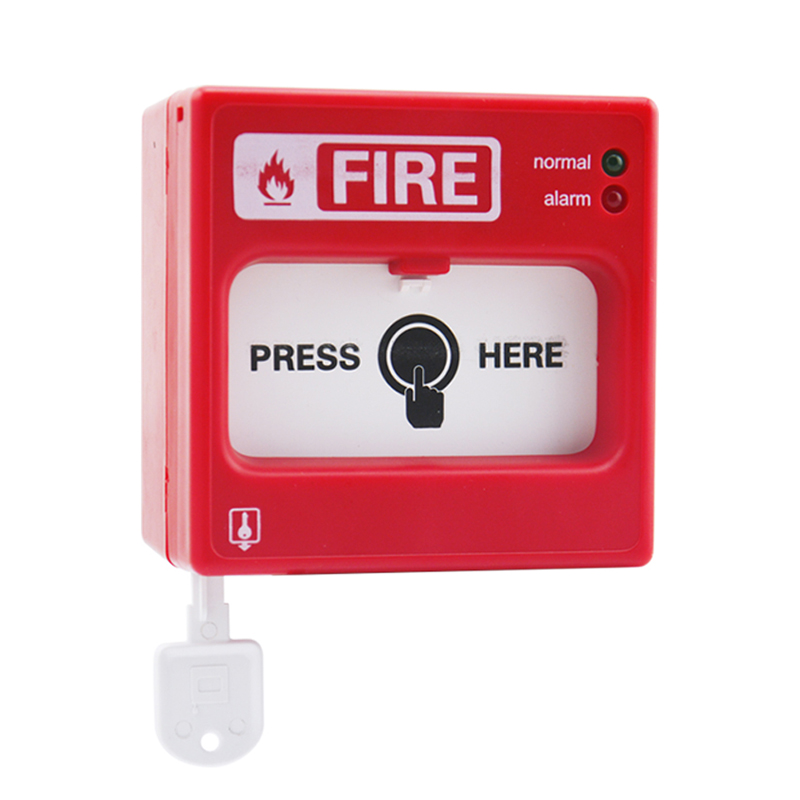 Addressable fire alarm resettable manual call point