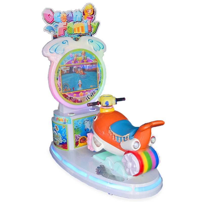 Electric coin operated arcade baby dolphin kiddie rides game machine supplier&exporter