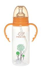240ml Standard neck PP straight feeding bottle with handle