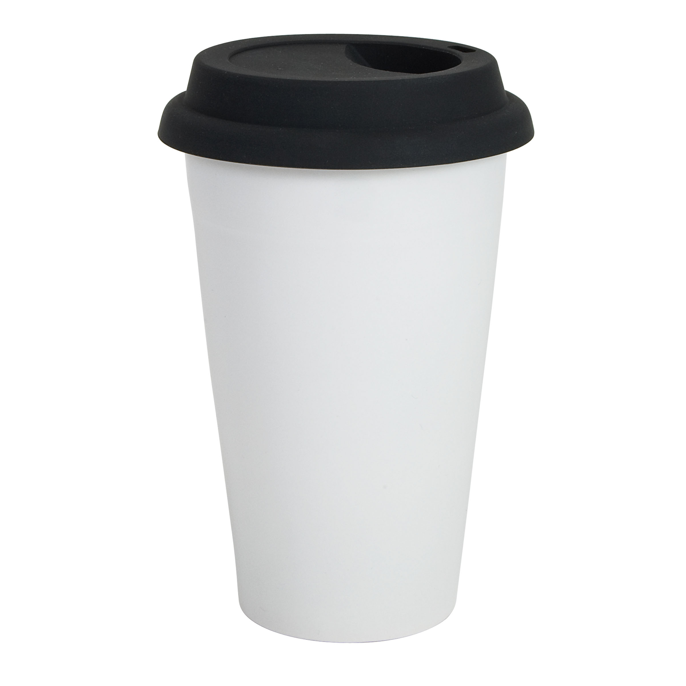 9oz Plain Single Wall Paper Cup with Lid