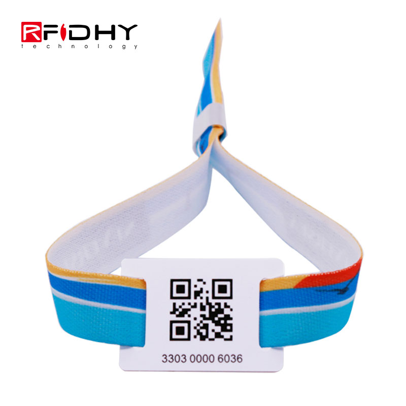 Custom VIP Event Bands RFID Fabric Woven Wristband