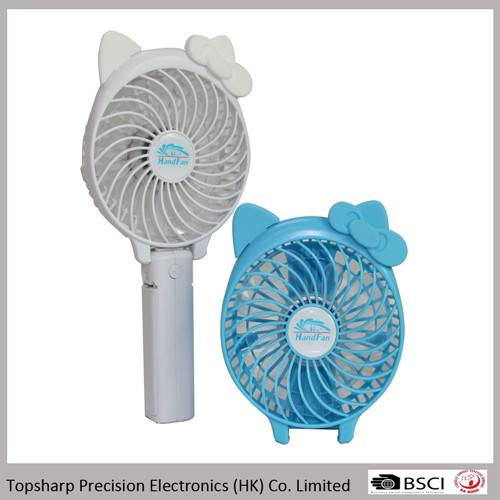 Electrical appliances chargeable travelling usb pocket mini fan with battery