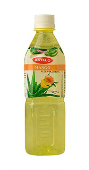 Mango Aloe Vera Juice with Pulp Okeyfood in 500ml Bottle