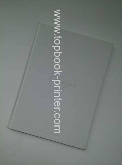 cloth texture cover hardcase bound book printed for clothing company