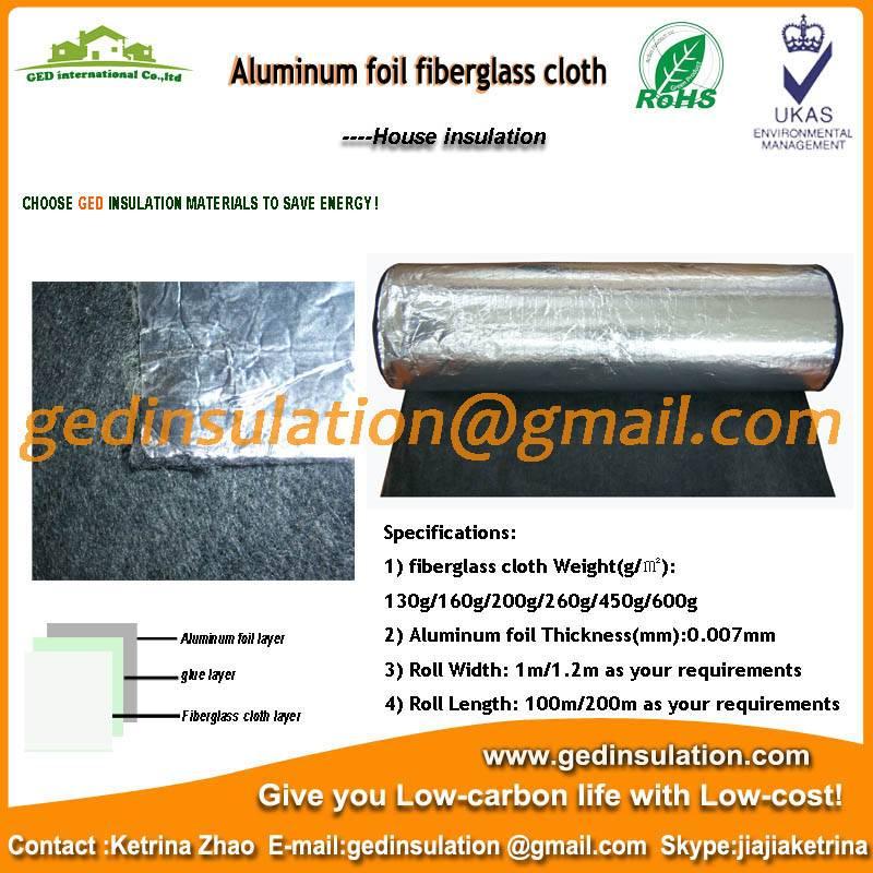 Carbon fiber coated aluminum foil as wall insulation