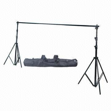 Portable Background Support Stand for Photography, with Cross Bar