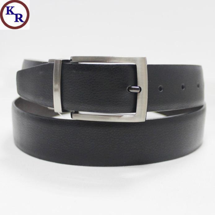Reversible Buckle Genuine Leather Belt for Men