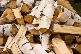 birch Firewood, Fresh Firewood, Firewood on Crates