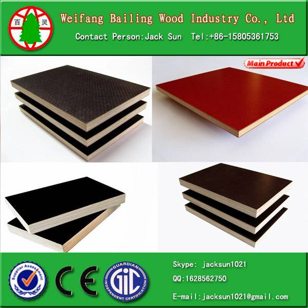 Film faced plywood/shuttering