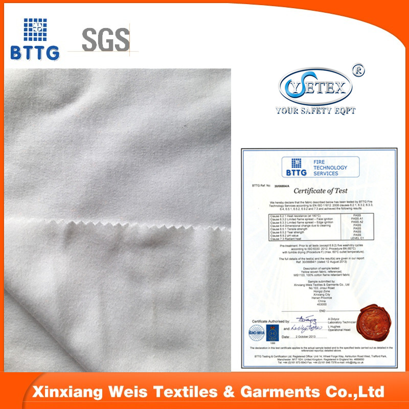 100 cotton fire retardant knitted FR fabric