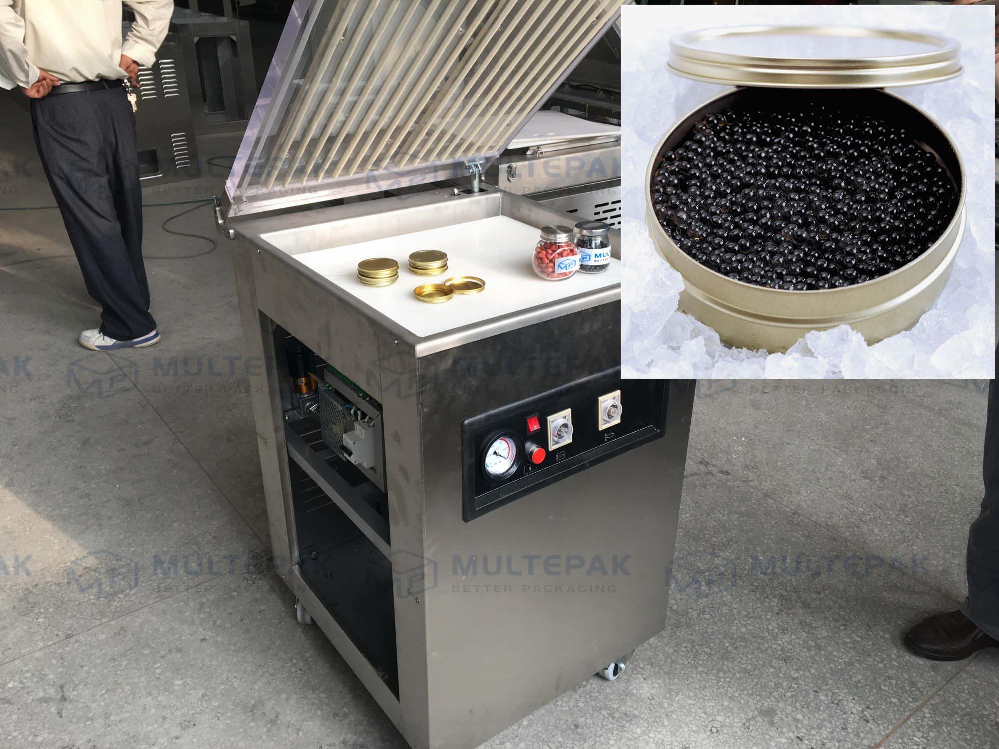 caviar vacuum packaging machine tin sealing sealer