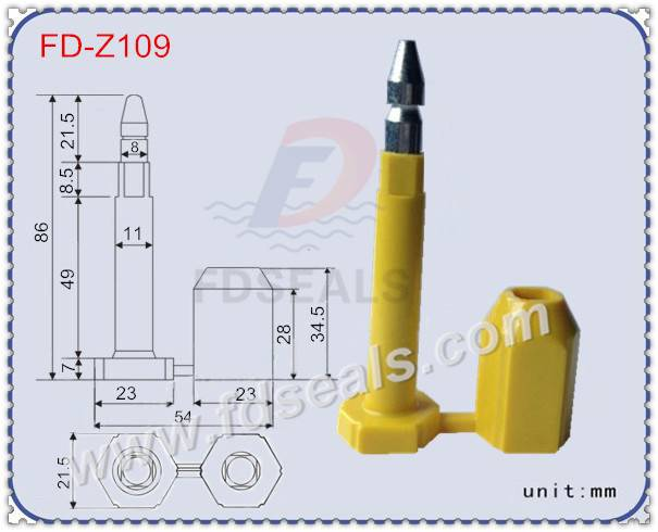 ISO17712: 2013 high security seal, contianer seal, bolt seal FD-Z109