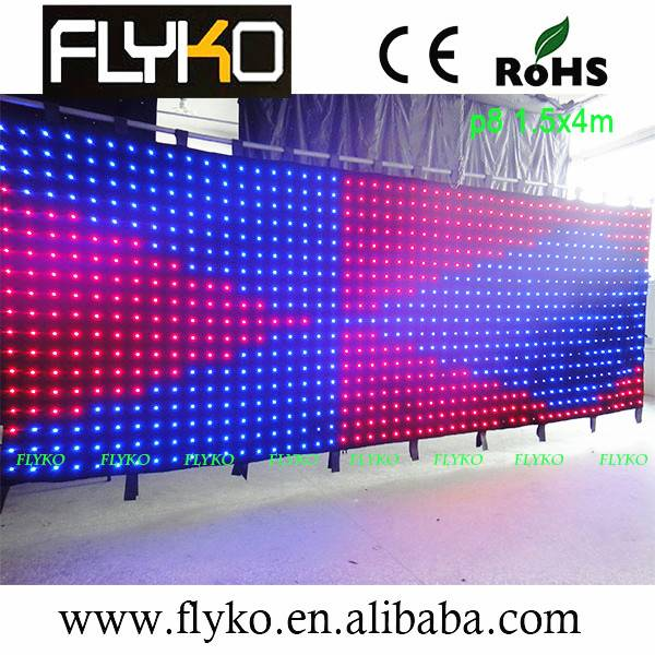 LED customize size led video curtain/led vision curtain