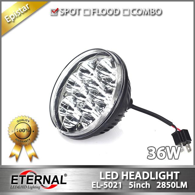 36W 5in round headlight 4000/4040/5506/H5001/H5006/H5006LL truck headlight replacement kit for Mercu
