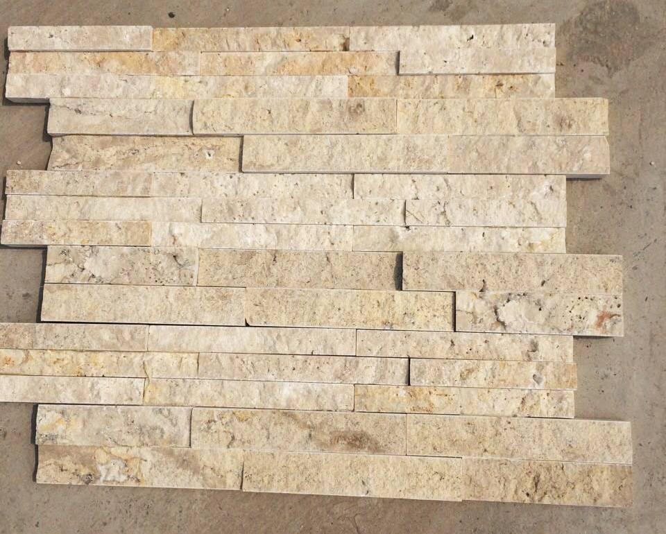 Travertine Mosaic Marble Mosaic Thin Stone Veneers Tiles Slabs Splitface