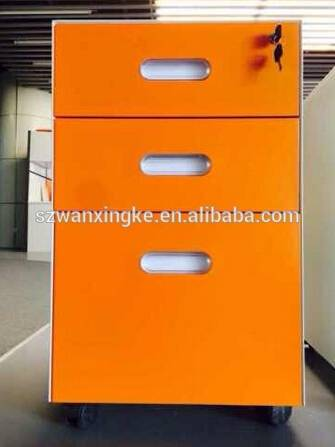 3 Drawers Mobile Pedestal Cabinet with lock