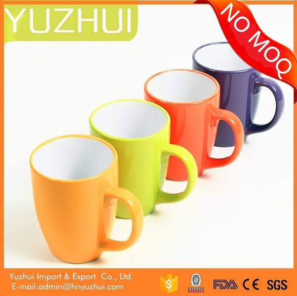 Color glazed ceramic mug, china wholesale ceramic mug, hotsale ceramic mugs promotional