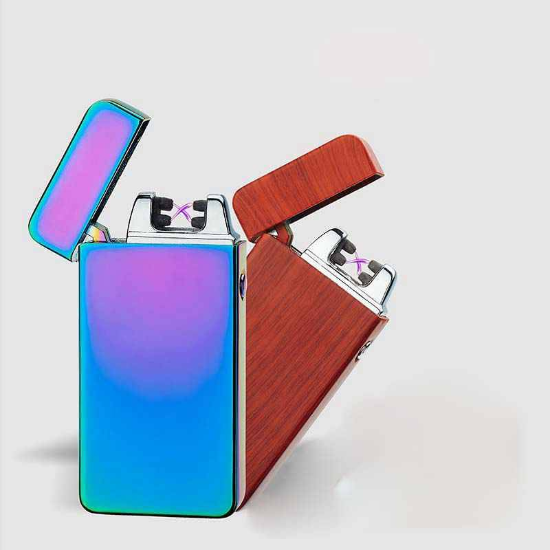 New rechargeable double arc usb lighter
