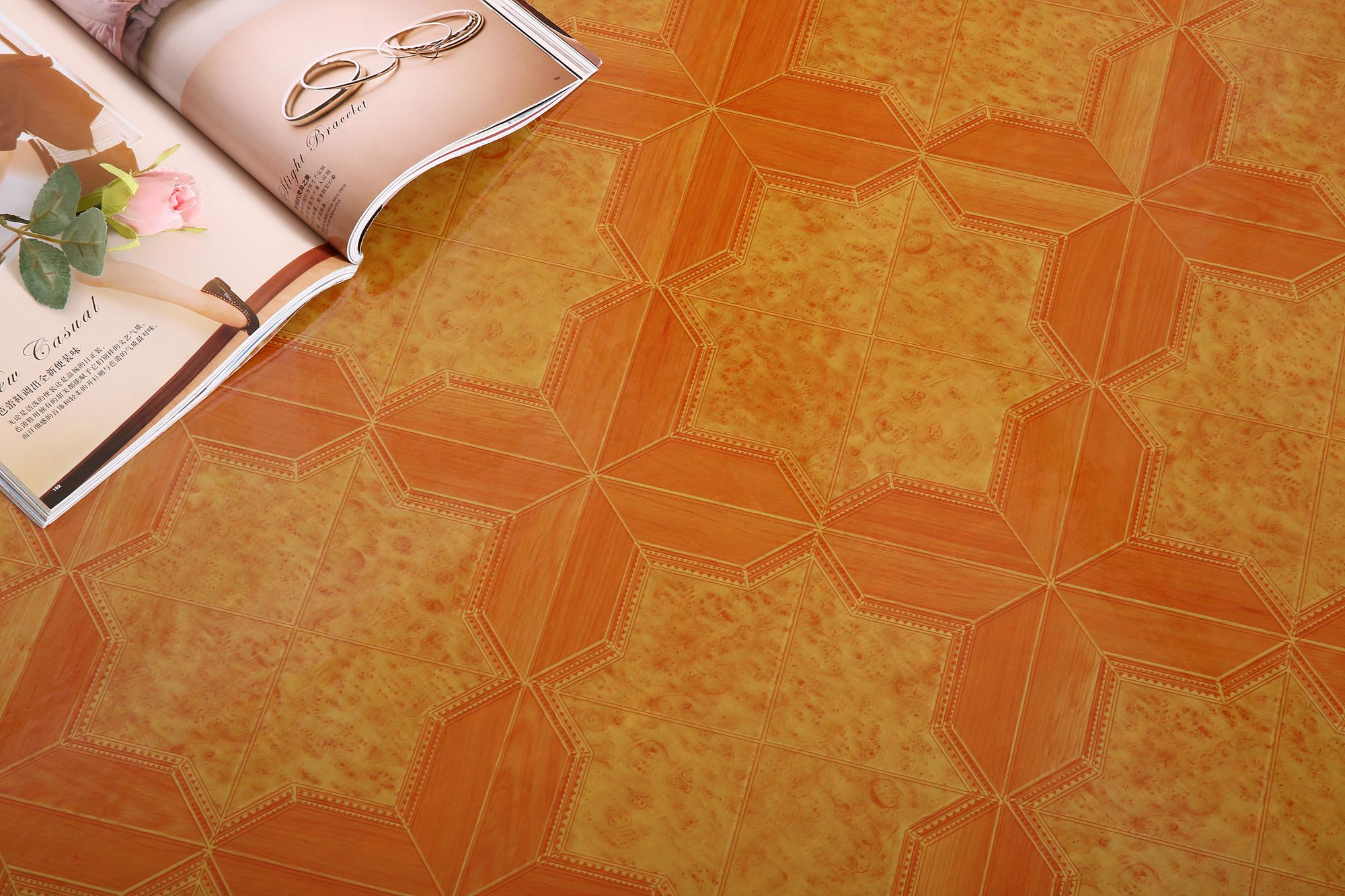 0.35-3.0mm residential top pvc flooring supplier henan fortovan