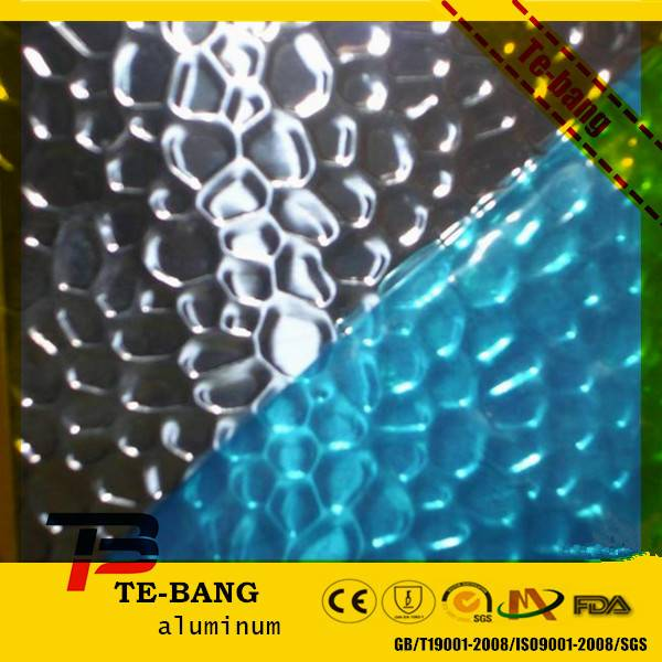 High reflective hammered embossed aluminum mirror sheet