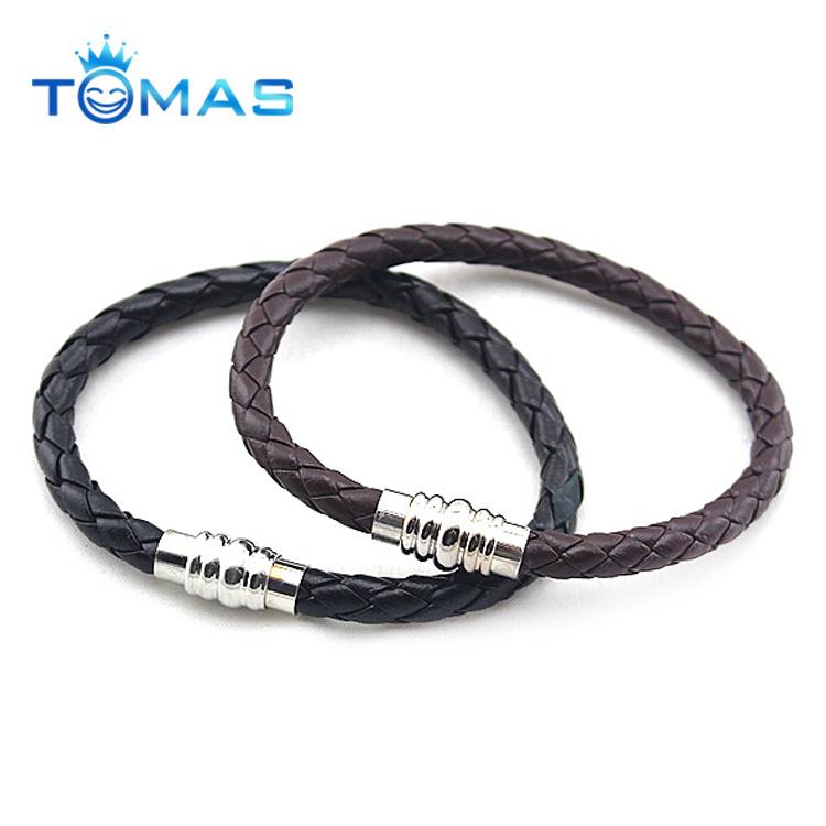 2018 wholesale fashion mens bulk pu leather bracelet for men
