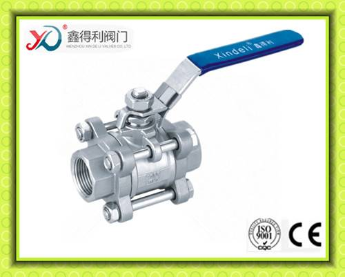 3PC thread stainless steel ball valve 1000 PSI