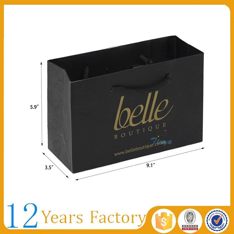 black elegant gift packaging fashion paper bag