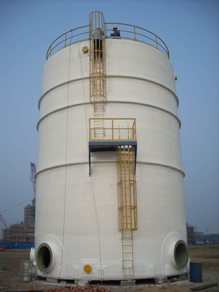 FRP vertical, large diameter tank