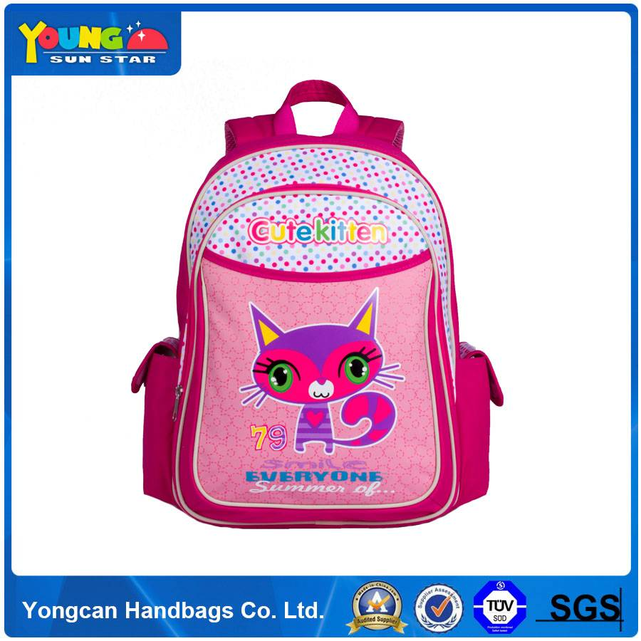 300D polyster backpack girl school bag
